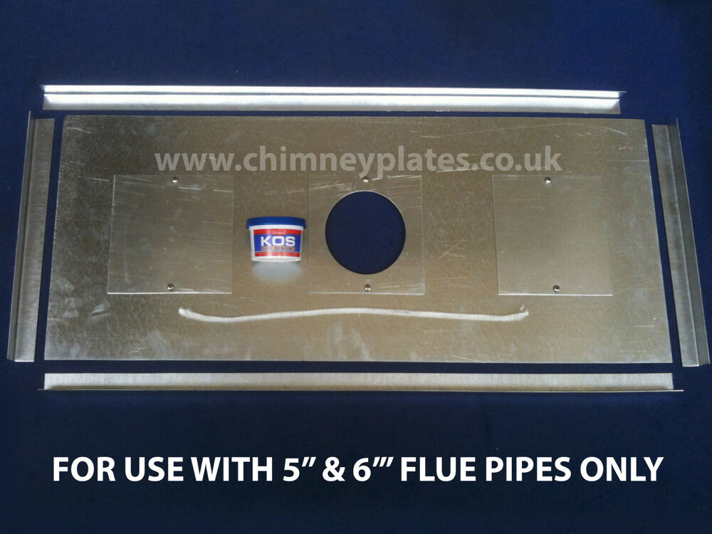 Chimney Register Plate Kit For Wood Burning Stoves For 5