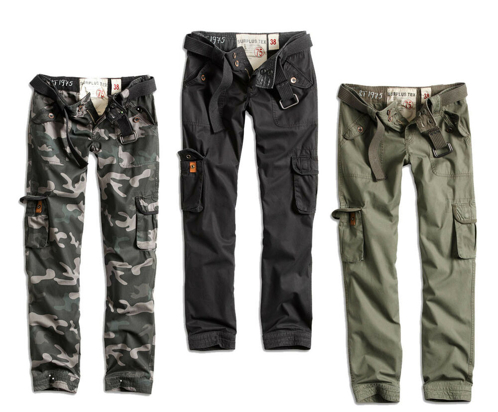 surplus raw damen premium slimmy cargo hose jeans military pants chino pant ebay. Black Bedroom Furniture Sets. Home Design Ideas