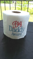 """ BIG DADDY AWARD""  FATHER'S  DAY GIFTembroidered T- PAPER  GAG GIFT"