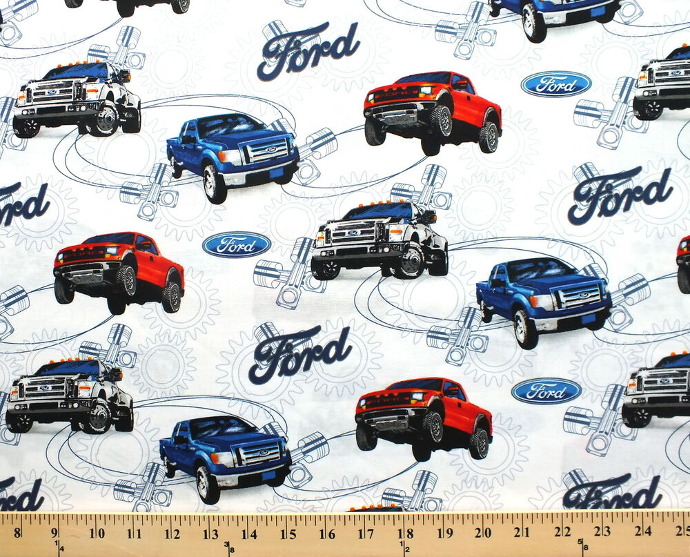 Ford motor company fords truck trucks on white cotton for Ford motor company history background