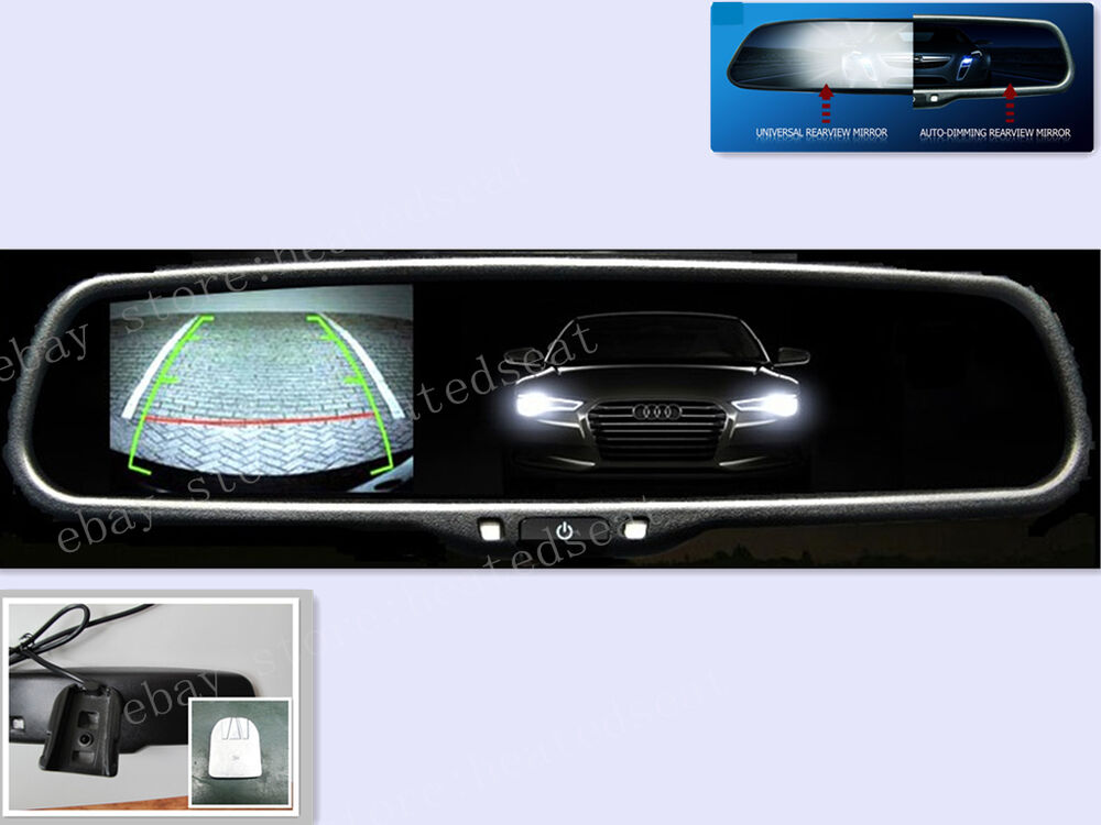 auto dim rearview mirror with 3 5 camera display fits. Black Bedroom Furniture Sets. Home Design Ideas