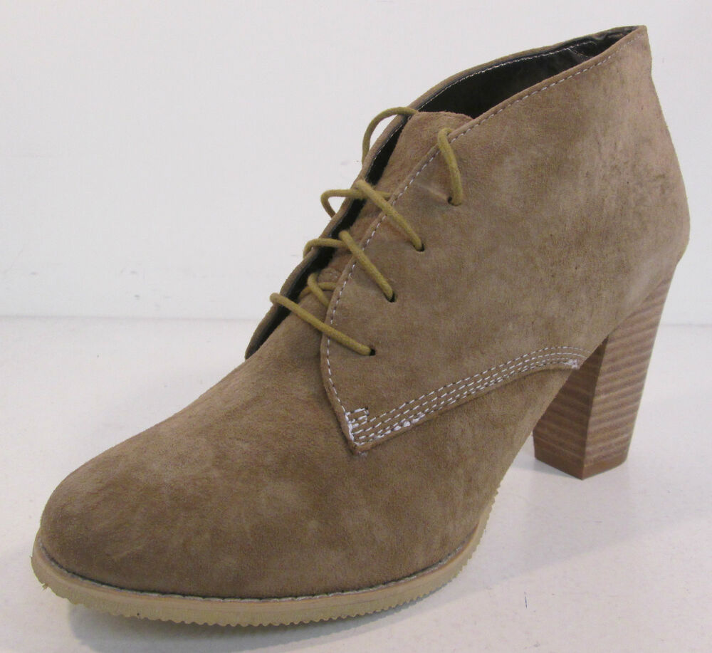 Sale Ladies Hush Puppies Beige Suede Leather Lace Up