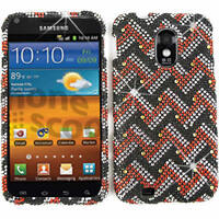 Red White Black Diamond Hard Cover Case Samsung Galaxy S 2 II Epic Touch 4G D710