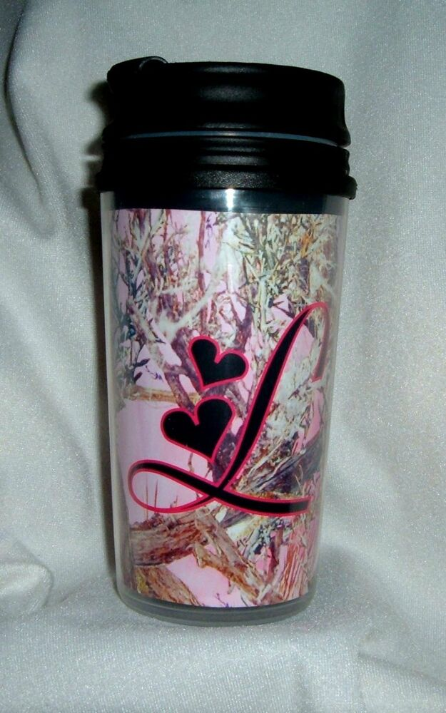 Mossy Oak Break Up Real Tree Pink Camo Camouflage Initial