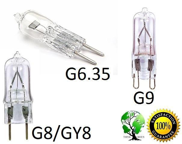 pack of 5 ultra halogen bipin 110 120v volt bulb base g8 gy8 g9 ebay. Black Bedroom Furniture Sets. Home Design Ideas