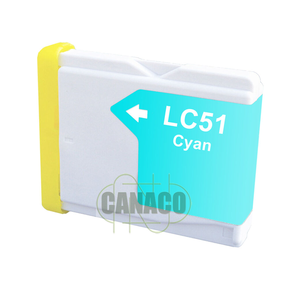 1 Cyan LC51 LC51C NON OEM Ink Cartridge For Brother