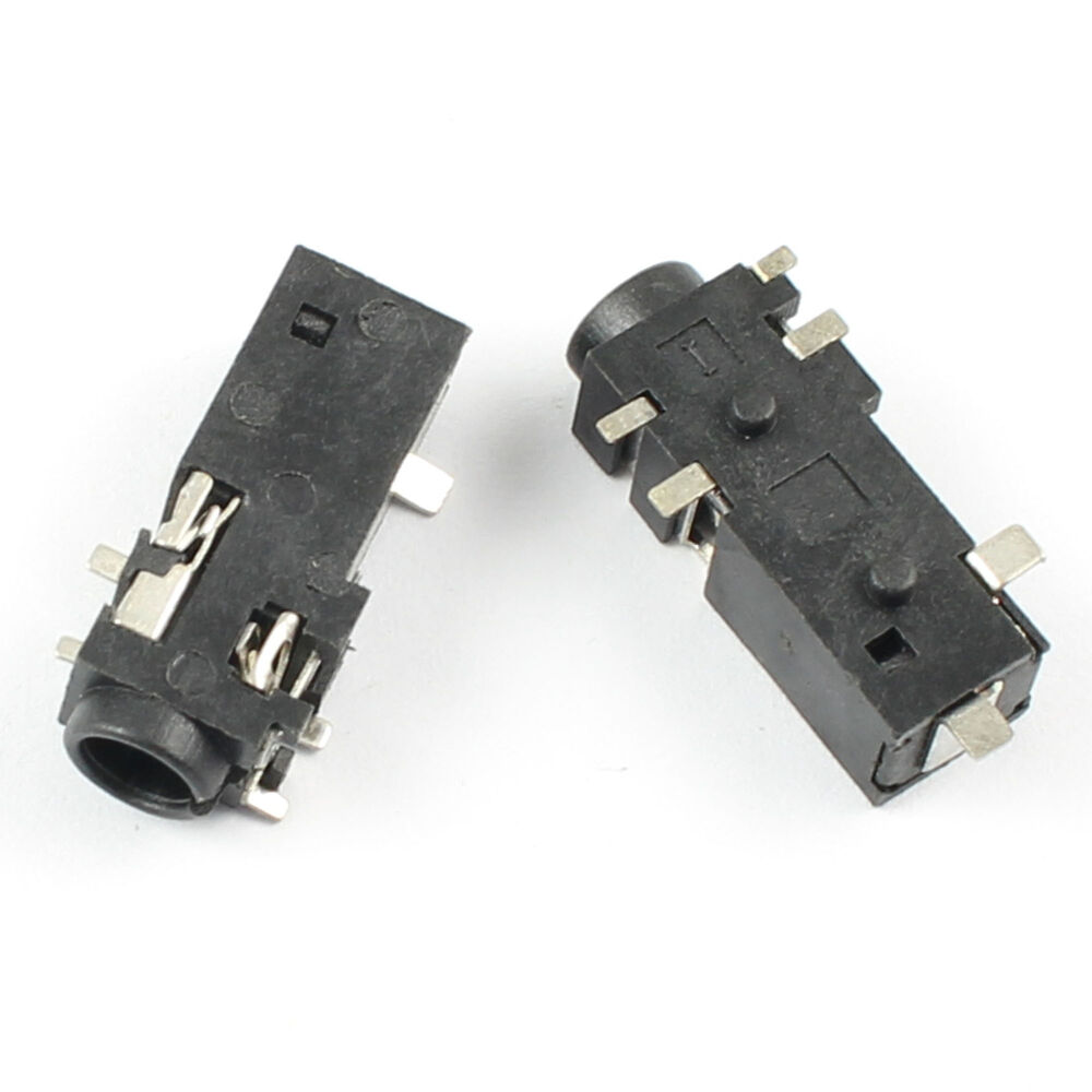 Pcs mm female audio connector pin smt stereo