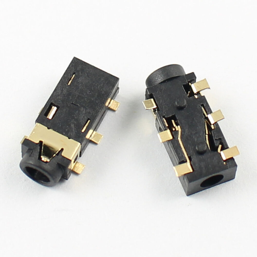 10pcs 2.5mm female audio connector 6 pin smt stereo phone ... female audio jack wiring 1 4 inch mono audio jack wiring