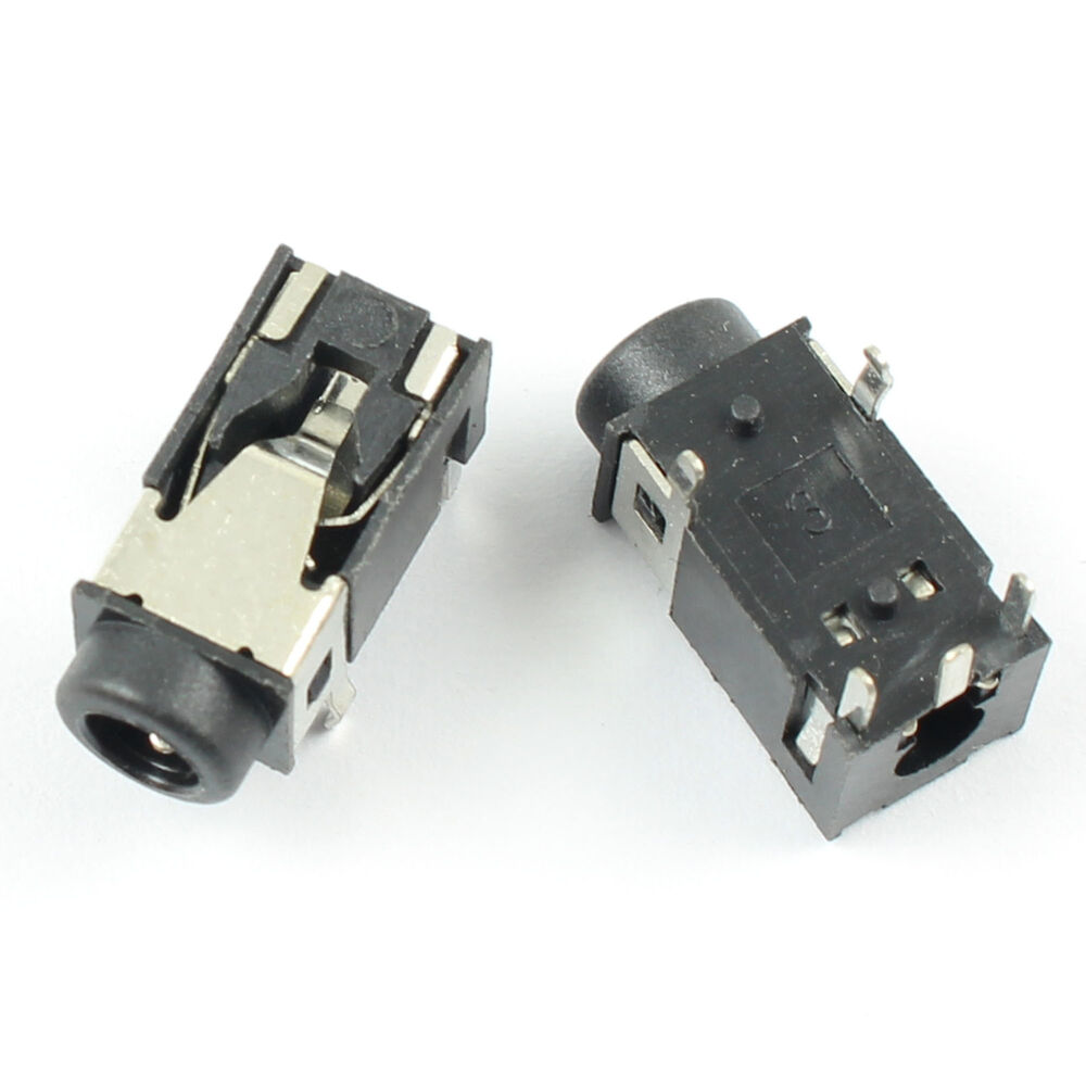 100pcs 3 5mm 1  8 Female Audio Connector 5 Pin Dip Stereo