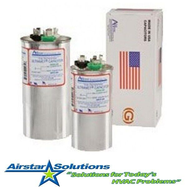 Trane Replacement Run Capacitor Dual Uf Mfd Round