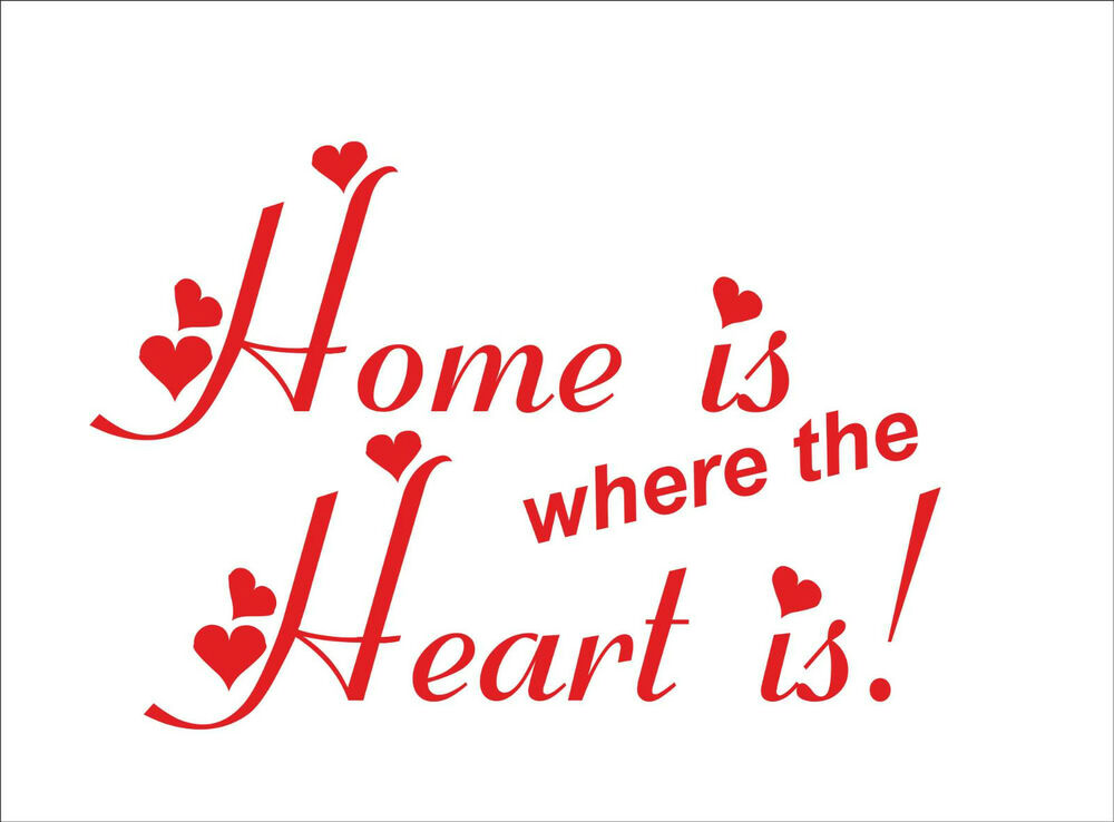 home is where the heart is quote sticker decal vinyl wall art decoration hh1 ebay. Black Bedroom Furniture Sets. Home Design Ideas