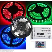 5M RGB SMD 5050 30Leds/M Non-Waterproof Led Strip Lights+ White Music Controller