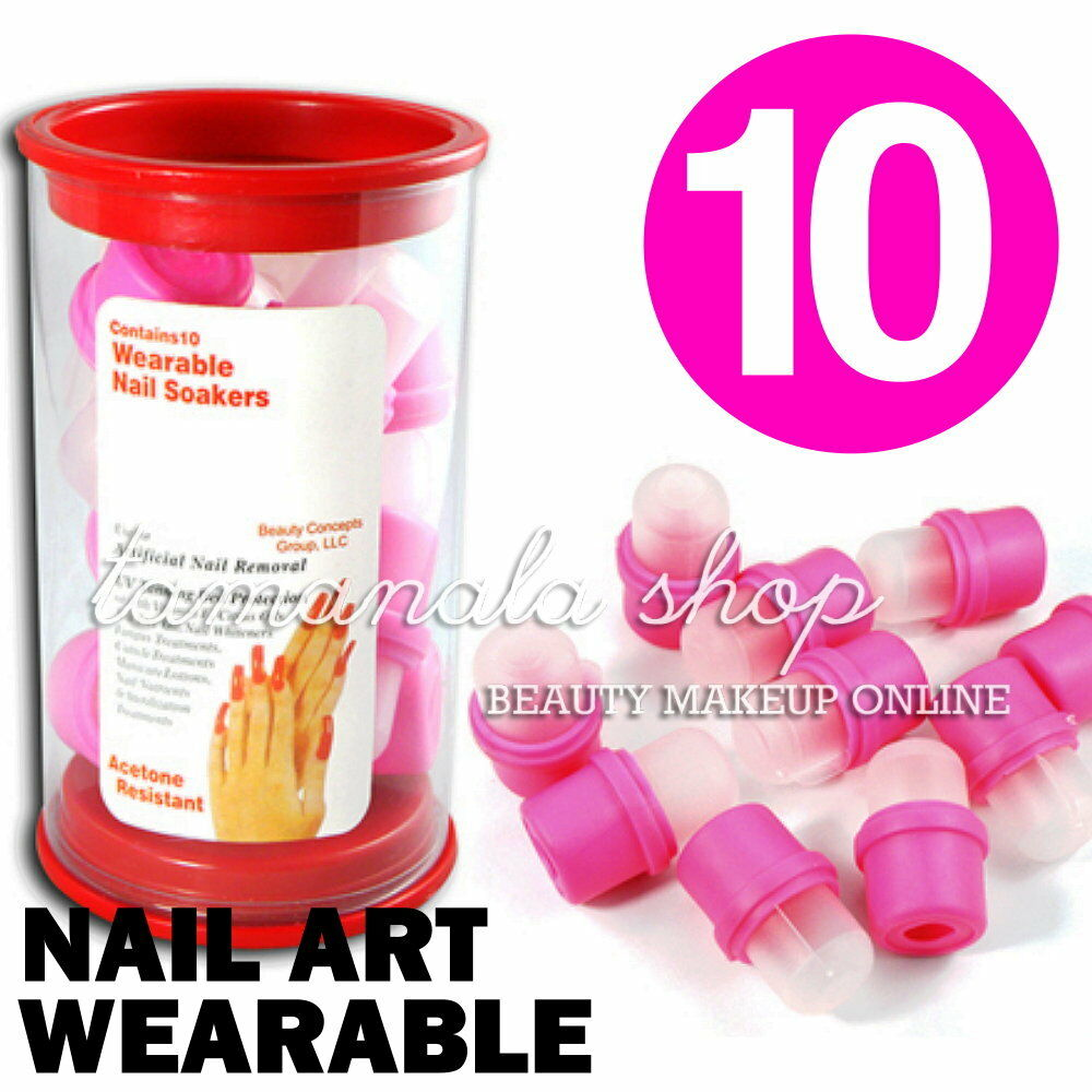 10 Pcs Wearable Nail Soakers For Acrylic Nail Art Tips