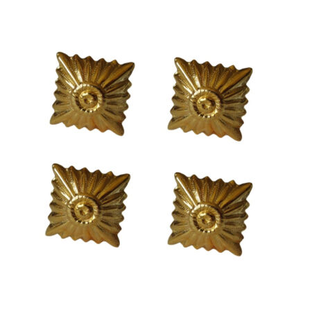 img-Small Gold Rank Pip - 4 Pack WW2 Repro Soldier Uniform Diamond Insignia Army New
