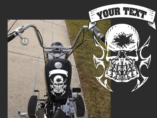 Motorcycle Fist Skull Gas Tank Decal Harley 10 Quot X8 Quot With