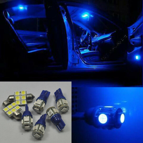 blue 4 lights smd led interior map dome package kit chrysler 300 300c 2005 2010 ebay. Black Bedroom Furniture Sets. Home Design Ideas