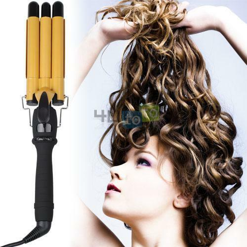 Terrific Use Triple Barrel Curling Iron Short Hair 2 Impression Hair Style Hairstyles For Men Maxibearus