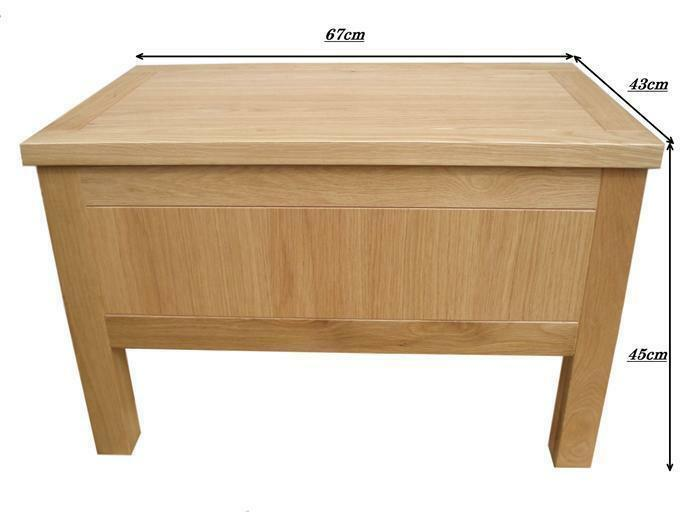 Oak storage box coffee table toy box blanket box ebay Coffee table storage chest