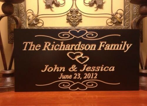 Wedding Gift Signs: Personalized Est. Family Sign Wedding Gift Last Name