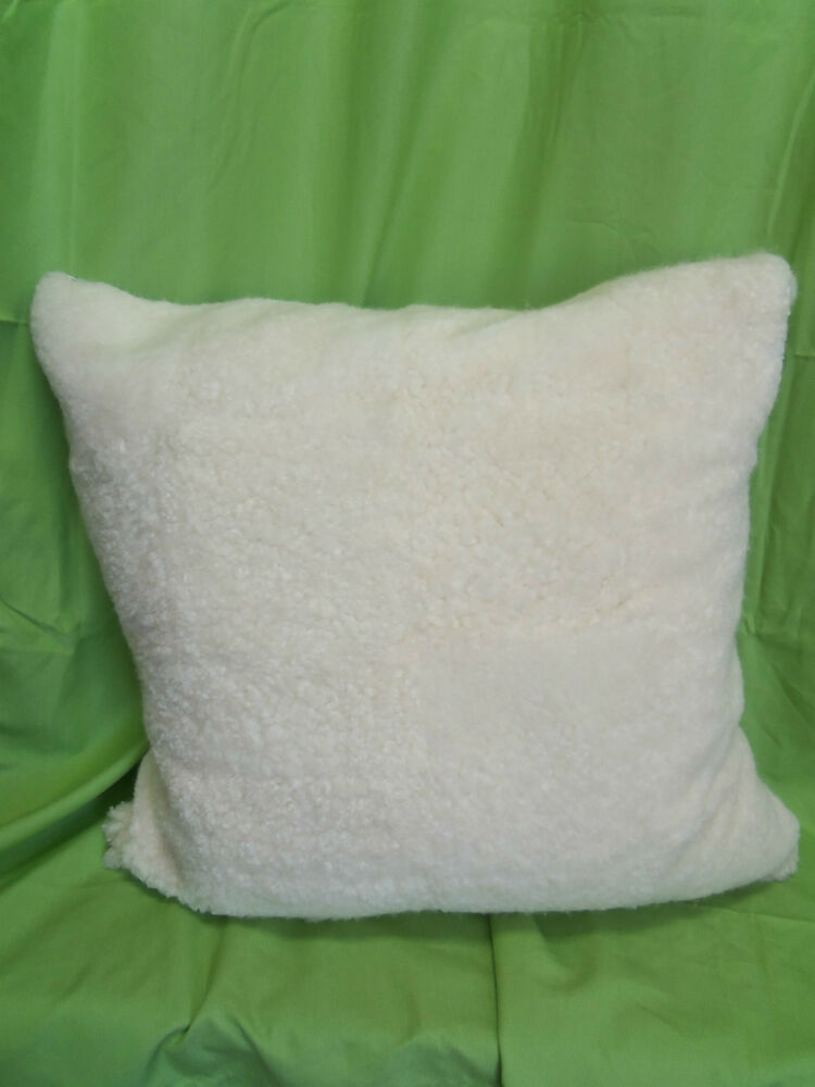 Throw Pillow Cover And Insert : Pottery Barn West Elm Sheepskin Fur Bed Sofa FLOOR Throw Pillow Cover Insert 30