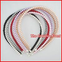 PEARL HEADBAND / ALICE BAND - MORE COLOURS - Hair Head Accessories - NEW