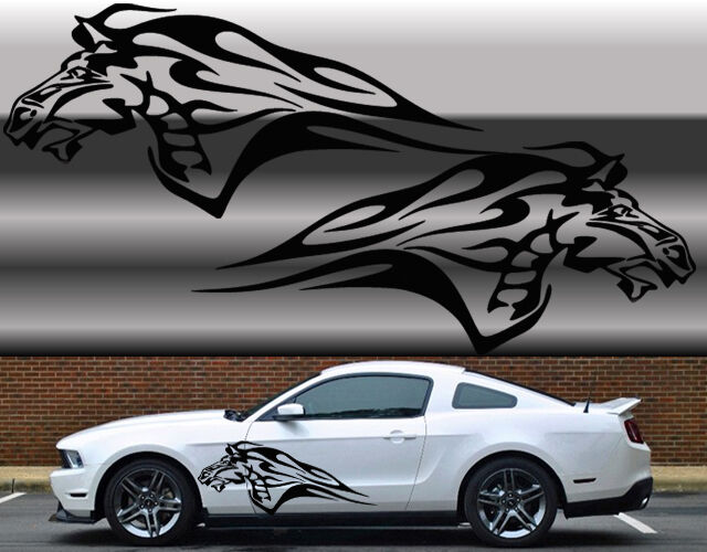 Truck Back Window Decals >> Universal Mustang flaming horse Truck or car decal set in ...