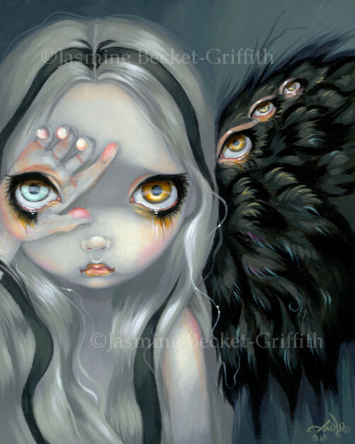 Jasmine Becket-Griffith art print SIGNED Divine Hand