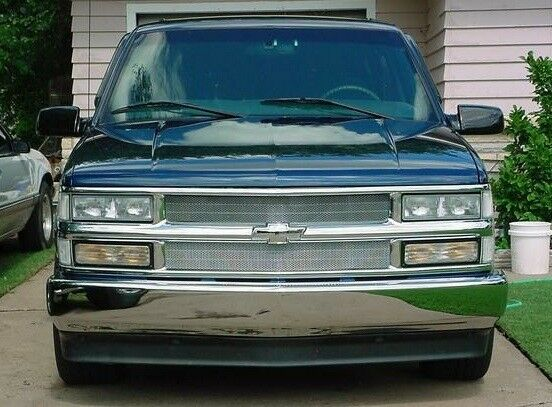 1995 1999 chevy tahoe chrome mesh grille grill kit by. Black Bedroom Furniture Sets. Home Design Ideas