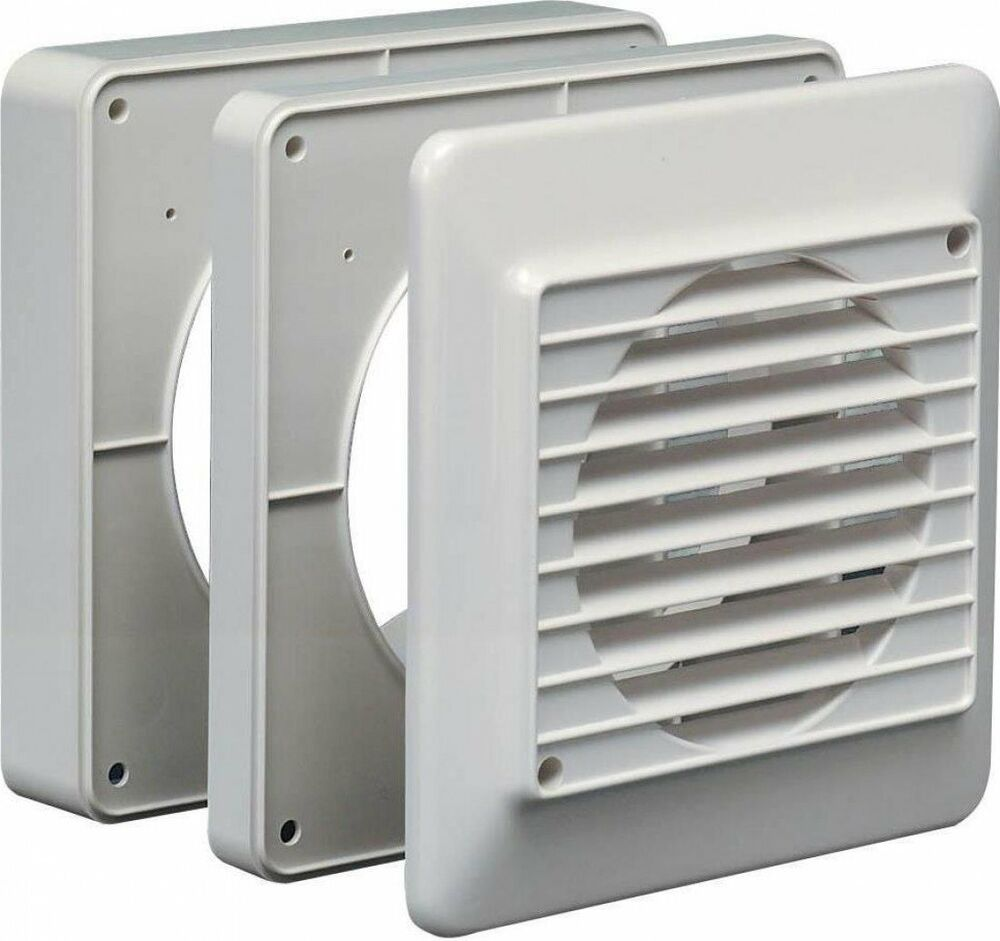 6 Duct Fan Roof Vent Kit : Kitchen extractor fan window venting kit duct grille