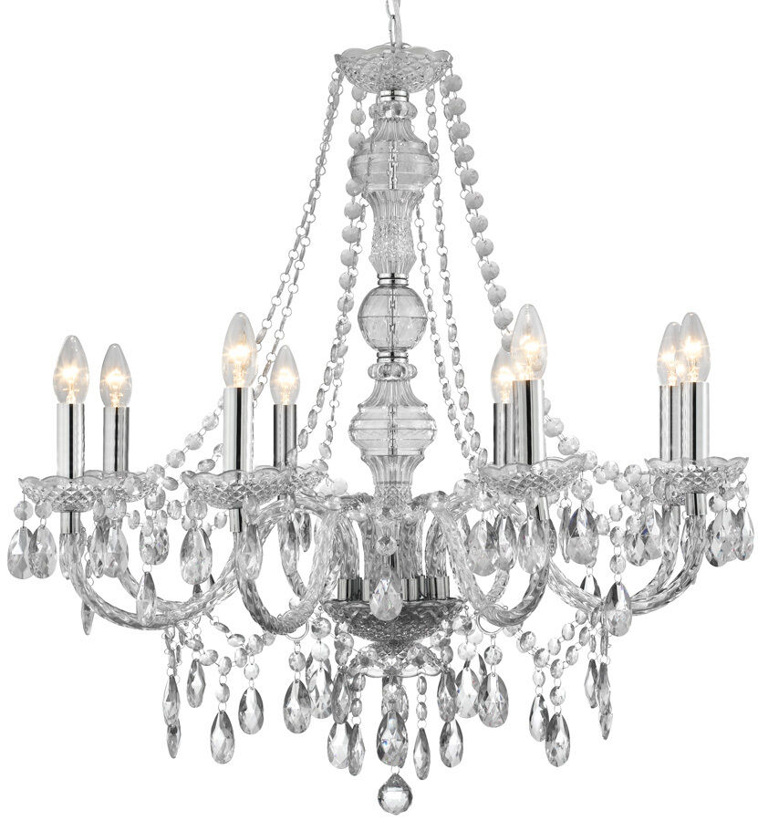 Marie Therese Chandelier 8 Light Ceiling Light in Clear, Champagne Or Graphite   eBay