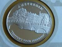Lot 2 39mm silver proof silver medal Amsterdam