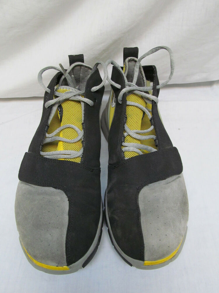 outlet store f258f f57bf Details about MENS NIKE AIR HUARACHE HT2K6 2006 BLACK YELLOW GRAY SIZE 9.5