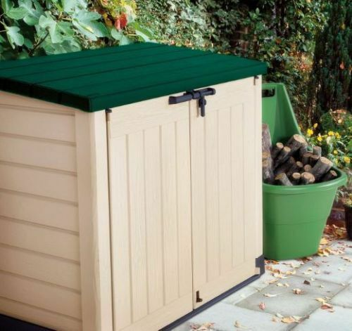 Keter Store It Out Max Xl Green Lid Plastic Garden Shed