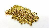 500 pcs 2.4mm Gold Plated Spacer Beads - A6715