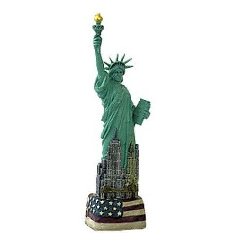 6 Statue Of Liberty Figurine With Flag Base From New York