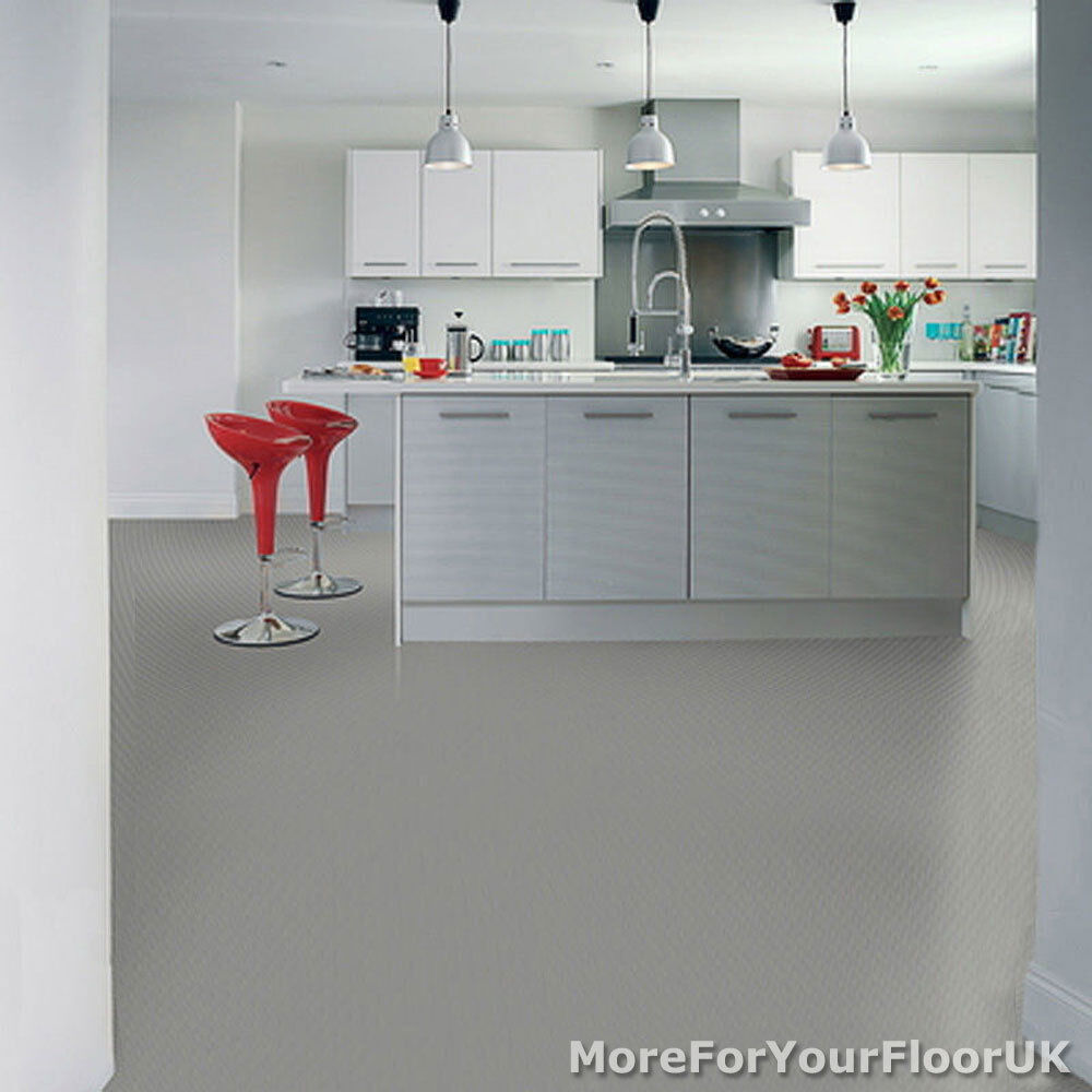 Grey Kitchen Lino: 2m Wide Anti Slip Quality Lino