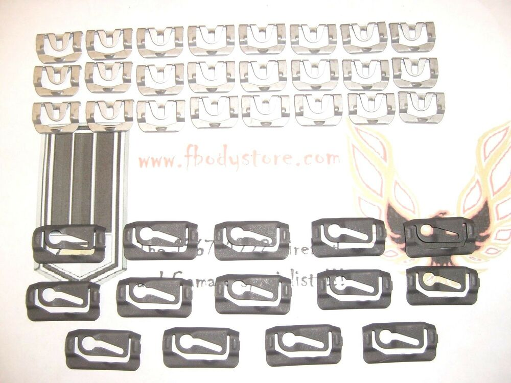 1970 1981 Camaro Trans Am Window Reveal Trim Clip Set Front Amp Rear Fasteners Ebay