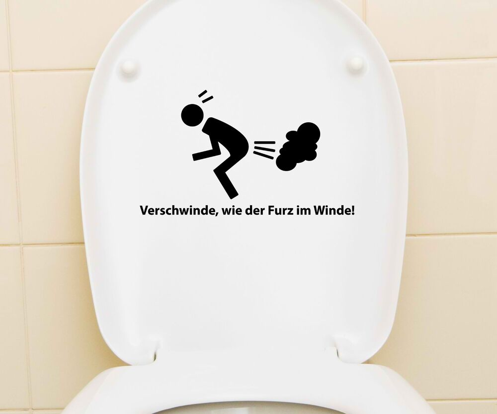 aufkleber wc deckel toiletten sticker bad spruch lustig klodeckel tattoo 3c023 ebay. Black Bedroom Furniture Sets. Home Design Ideas