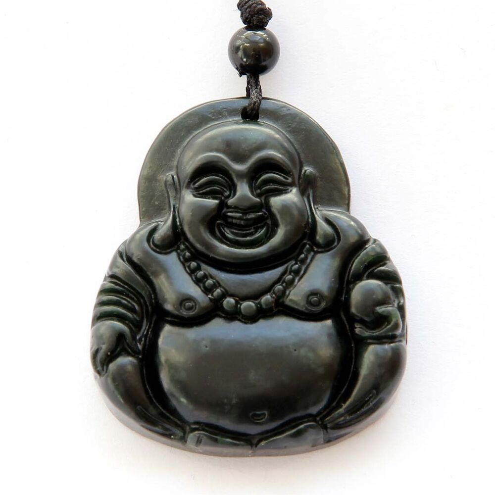 Happy buddha tibet buddhist black green jade amulet for Zen culture jewelry reviews