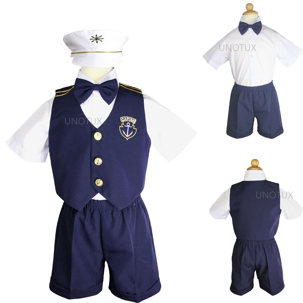 infant boy  toddler nautical sailor formal vest suit