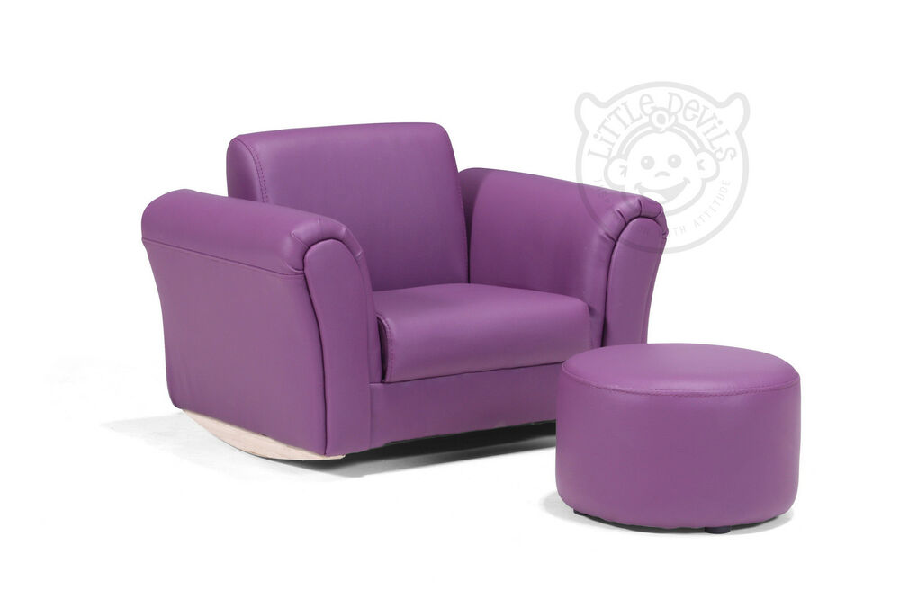 Purple Lazybones Kids Rocking Chair Armchair Sofa For
