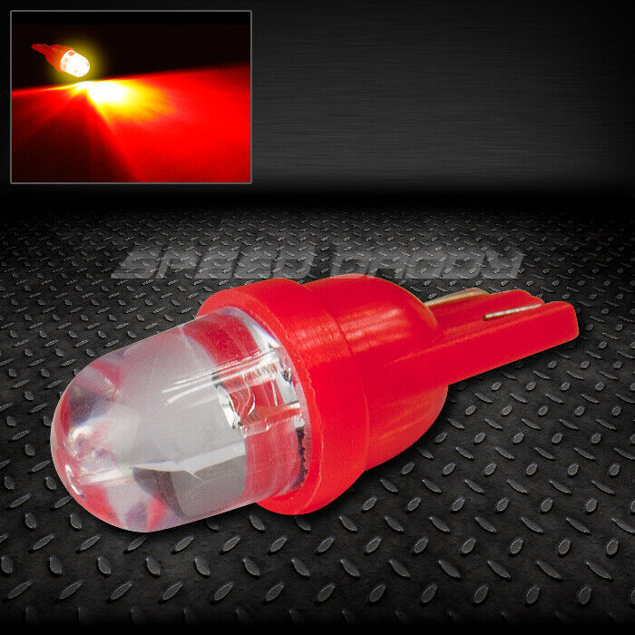 10mm Round Led T10 W5w 194 168 Red Auto Interior Dome 12v Light Bulb Lamp Bulbs Ebay