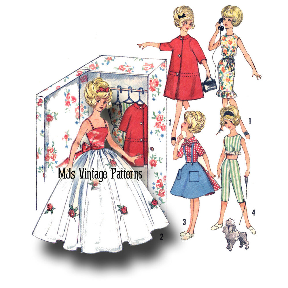 vintage doll clothes pattern or tammy dress