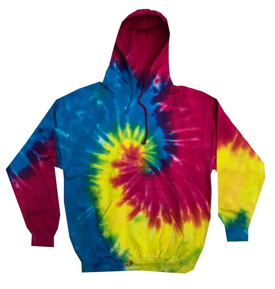 multi color tie dye hoodie sweatshirt youth xs to youth. Black Bedroom Furniture Sets. Home Design Ideas
