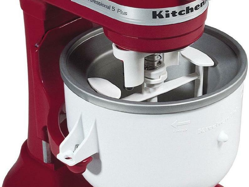 New Kitchenaid Kica0wh Kica Ice Cream Maker Attachment Frozen Desserts Yogurt Nu Ebay