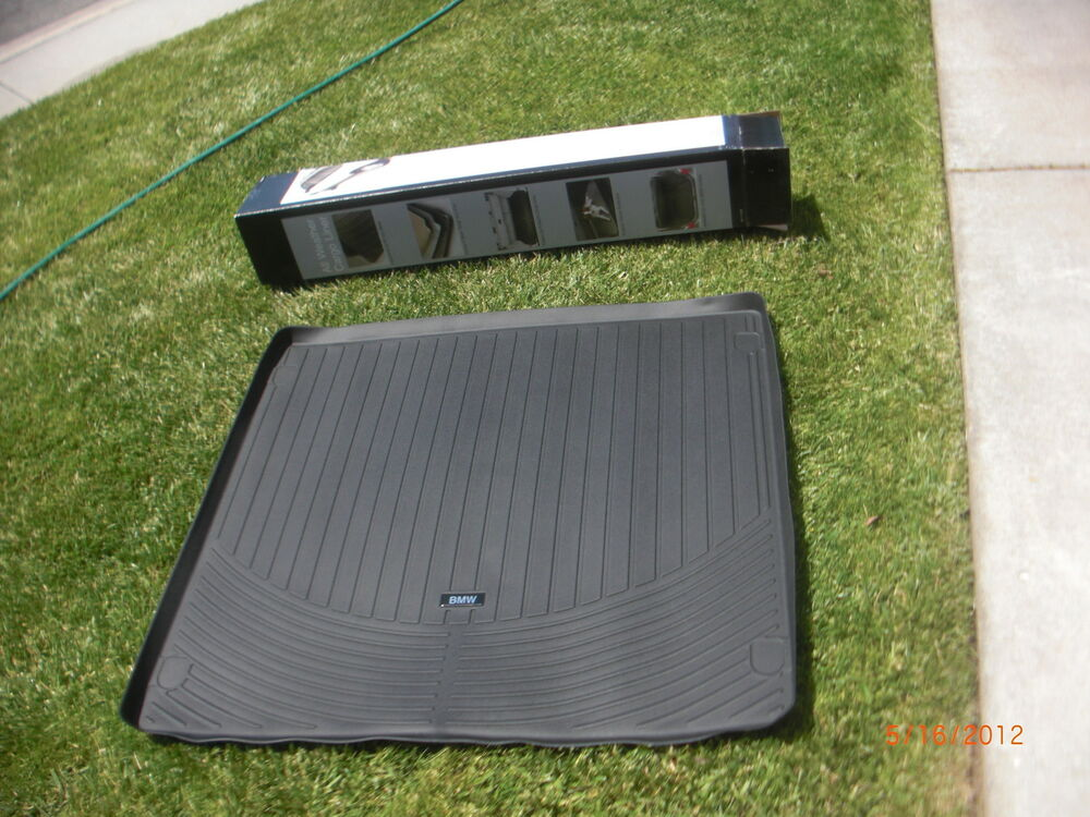 2007 2012 Bmw E70 X5 Rear Trunk Rubber Floor Mat Cargo Liner 3 0si 4 8i 3 0d Ebay