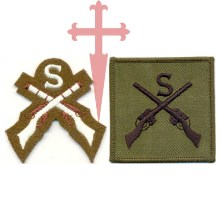 img-NEW ARMY Subdued and Colour OFFICIAL SNIPER CROSSED RIFLES BADGE