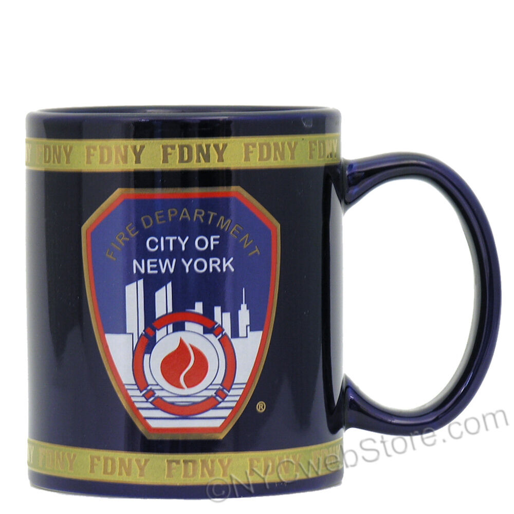 fire department of new york fdny mug souvenir from online nyc gift shop store ebay. Black Bedroom Furniture Sets. Home Design Ideas