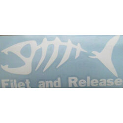 FILET AND RELEASE FISHING STICKER VINYL GRAPHIC CAR DECAL CHOOSE SIZE