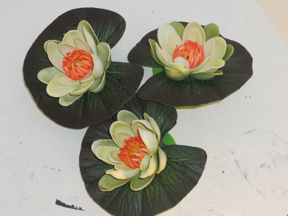 Floating Raindrop Lotus Lily Pads For Ponds Fountains